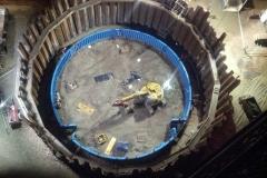 Rundschalung mit hydraulischem Klettergerüst