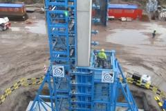 Schalung für große Brückenpfeiler